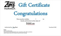 Dive Zone Gift Vouchers